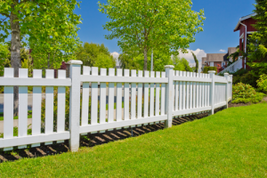 Pose de clôture